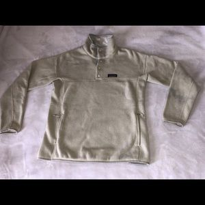 Patagonia 1/4 Zip Pullover Birch White